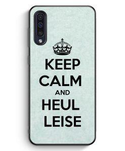 Samsung Galaxy A50 Silikon Hülle - Keep Calm And Heul Leise