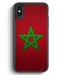 iPhone X & iPhone XS Silikon Hülle - Marokko Morocco