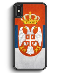 iPhone X & iPhone XS Silikon Hülle - Serbien Srbija Serbia