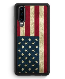 Huawei P30 Silikon Hülle - USA America Amerika