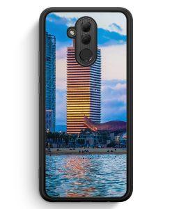 Huawei Mate 20 Lite Silikon Hülle - Barcelona Foto Strand