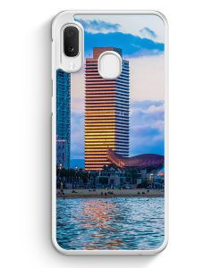 Samsung Galaxy A20e Hardcase Hülle - Barcelona Foto Strand