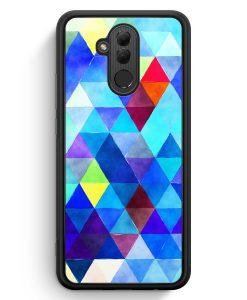 Huawei Mate 20 Lite Silikon Hülle - Blaue Dreiecke Wasserfarben