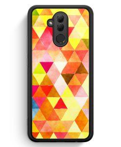 Huawei Mate 20 Lite Silikon Hülle - Orange Dreiecke Wasserfarben