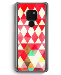 Huawei Mate 20 Hardcase Hülle - Rote Dreiecke Wasserfarben