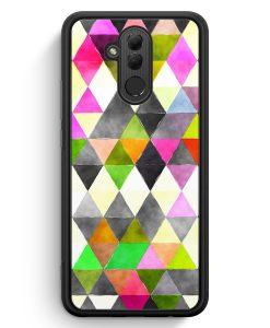 Huawei Mate 20 Lite Silikon Hülle - Schwarze Dreiecke Wasserfarben