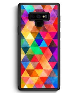Samsung Galaxy Note 9 Hülle Silikon - Bunte Dreiecke Wasserfarben