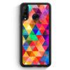 Huawei P30 Lite Silikon Hülle - Bunte Dreiecke Wasserfarben