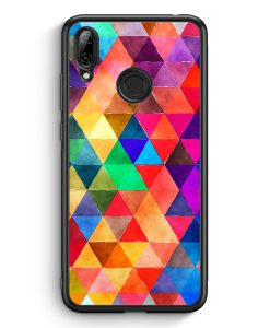Huawei Y7 (2019) Silikon Hülle - Bunte Dreiecke Wasserfarben