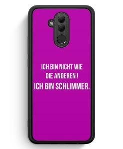 Huawei Mate 20 Lite Silikon Hülle - Ich Bin Nicht Wie Die Anderen Pink