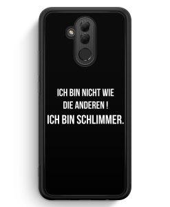 Huawei Mate 20 Lite Silikon Hülle - Ich Bin Nicht Wie Die Anderen Schwarz