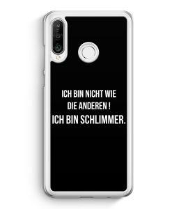Huawei P30 Lite Hardcase Hülle - Ich Bin Nicht Wie Die Anderen Schwarz