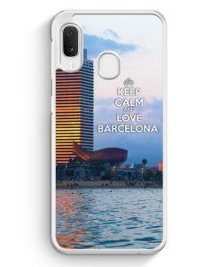 Samsung Galaxy A20e Hardcase Hülle - Keep Calm And Love Barcelona
