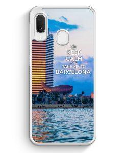 Samsung Galaxy A20e Hardcase Hülle - Keep Calm And Take Me To Barcelona