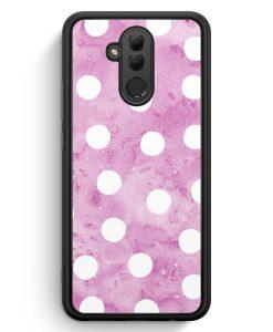 Huawei Mate 20 Lite Silikon Hülle - Lila Weiße Punkte Muster
