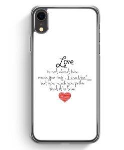 iPhone XR Hardcase Hülle - Love Is Not About WT