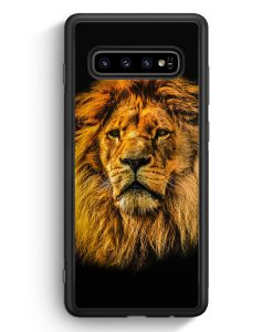 Samsung Galaxy S10 Silikon Hülle - Löwe Lion Strahlend