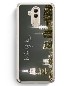 Huawei Mate 20 Lite Hardcase Hülle - New York City Schriftzug Skyline