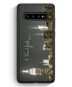 Samsung Galaxy S10 Silikon Hülle - New York City Schriftzug Skyline