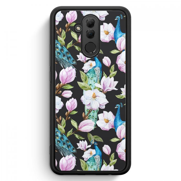 Huawei Mate 20 Lite Silikon Hülle - Peacock Pfau Muster