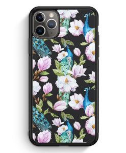 iPhone 11 Pro Silikon Hülle - Peacock Pfau Muster