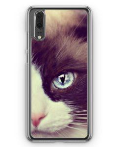 Huawei P20 Hülle Hardcase - Süße Katze Cat