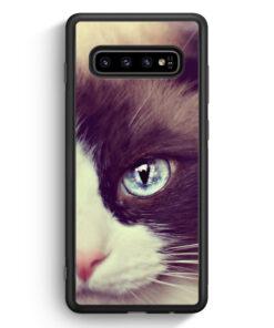 Samsung Galaxy S10 Silikon Hülle - Süße Katze Cat