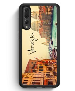 Huawei P20 Pro Hülle Silikon - Venezia Venedig Schriftzug Foto