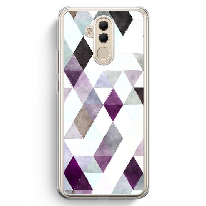 Huawei Mate 20 Lite Hardcase Hülle - Aztek Muster Schwarze Dreiecke