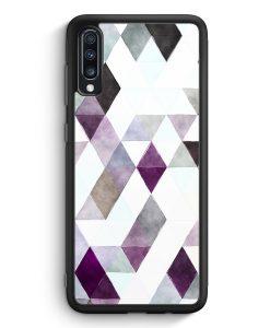 Samsung Galaxy A40 Silikon Hülle - Aztek Muster Schwarze Dreiecke