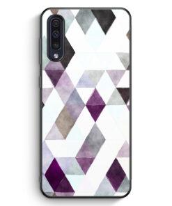 Samsung Galaxy A50 Silikon Hülle - Aztek Muster Schwarze Dreiecke