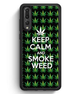 Huawei P20 Pro Hülle Silikon - Keep Calm And Smoke Weed
