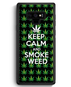 Samsung Galaxy Note 9 Hülle Silikon - Keep Calm And Smoke Weed