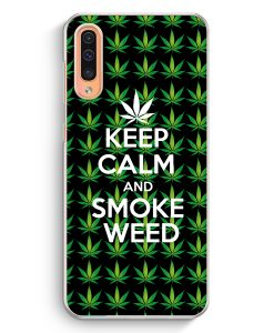Samsung Galaxy A50 Hardcase Hülle - Keep Calm And Smoke Weed
