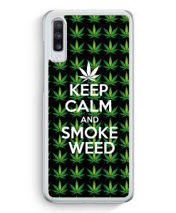 Samsung Galaxy A70 Hardcase Hülle - Keep Calm And Smoke Weed