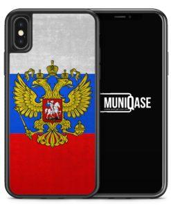 iPhone X Hülle SILIKON - Russland Russia Rossiya
