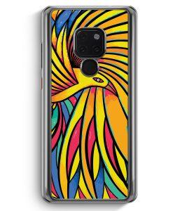 Huawei Mate 20 Hardcase Hülle - Tribal Vogel Bunt