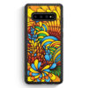 Samsung Galaxy S10 Silikon Hülle - Blumen Muster Bunt