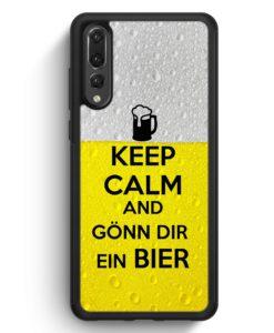 Huawei P20 Pro Hülle Silikon - Keep Calm And Gönn Dir Ein Bier