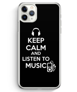 iPhone 11 Pro Max Hardcase Hülle - Keep Calm And Listen To Music