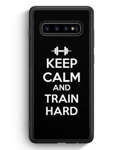 Samsung Galaxy S10 Silikon Hülle - Keep Calm And Train Hard