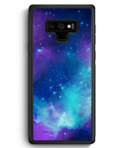Samsung Galaxy Note 9 Hülle Silikon - Galaxy Universe Nebula Blau-Lila