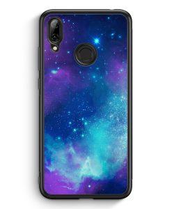Huawei Y7 (2019) Silikon Hülle - Galaxy Universe Nebula Blau-Lila