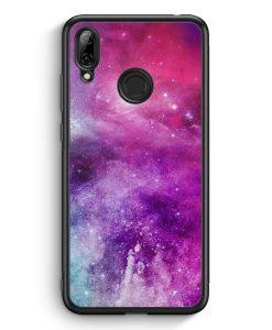 Huawei Y7 (2019) Silikon Hülle - Galaxy Universe Nebula Lila