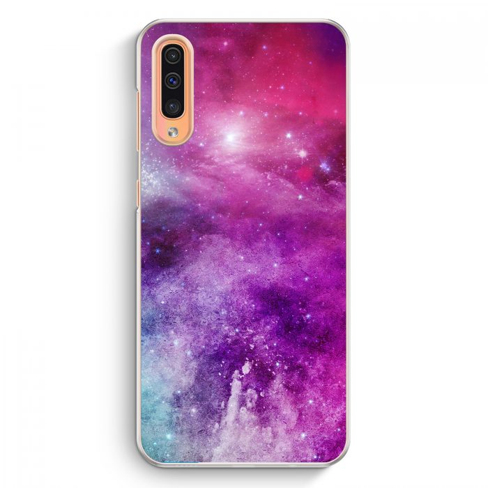 Samsung Galaxy A50 Hardcase Hülle - Galaxy Universe Nebula Lila