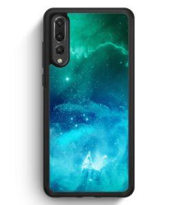 Huawei P20 Pro Hülle Silikon - Galaxy Universe Nebula Blau-Grün