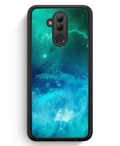 Huawei Mate 20 Lite Silikon Hülle - Galaxy Universe Nebula Blau-Grün