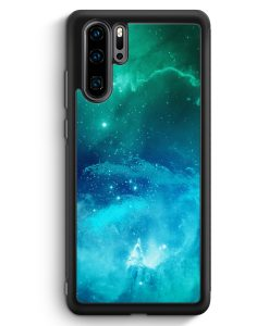 Huawei P30 Pro Silikon Hülle - Galaxy Universe Nebula Blau-Grün