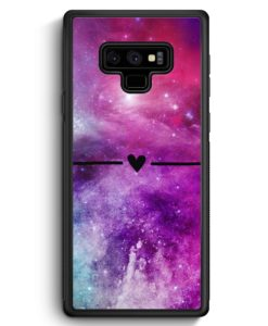 Samsung Galaxy Note 9 Hülle Silikon - Galaxy Universe Nebula Herz BK