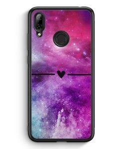 Huawei Y7 (2019) Silikon Hülle - Galaxy Universe Nebula Herz BK